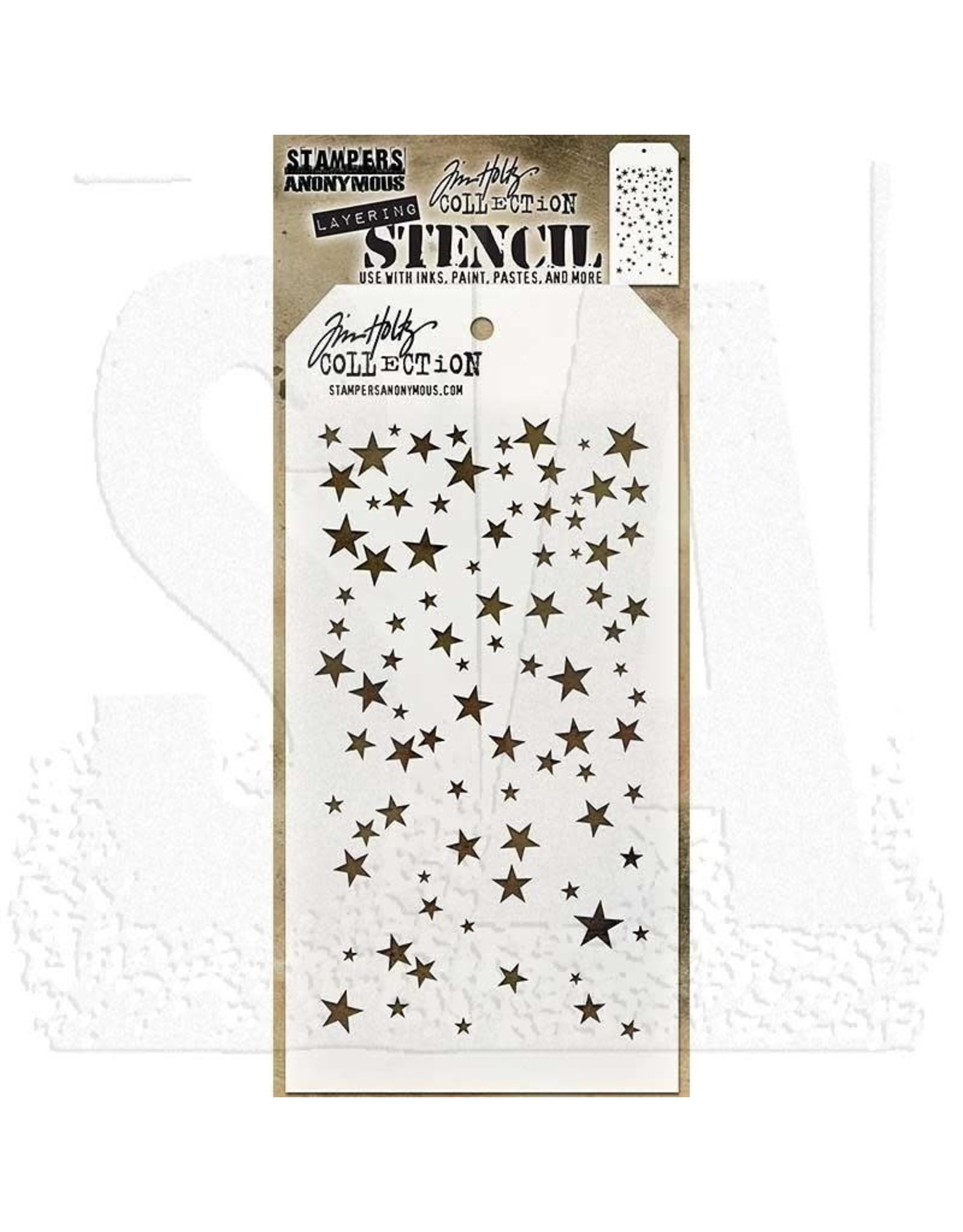 Stampers Anonymous Falling Stars - Layering Stencil