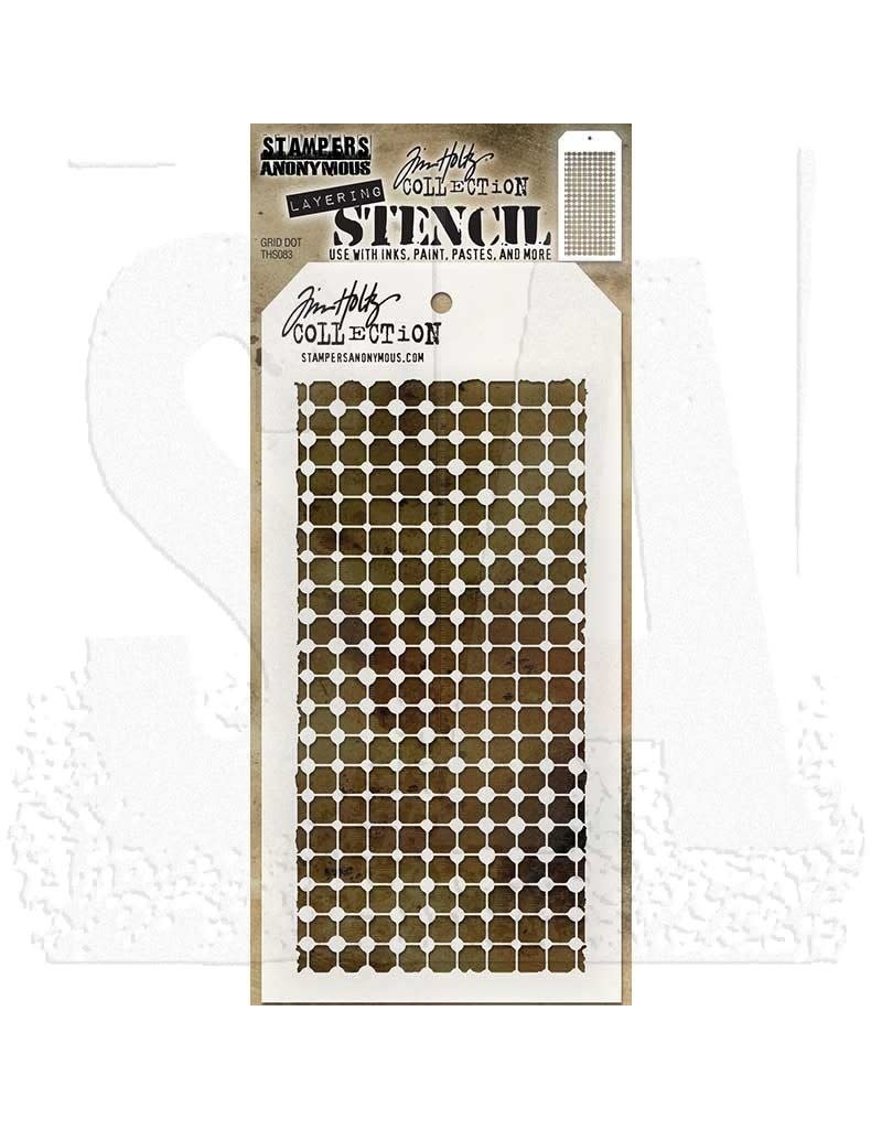 Stampers Anonymous Grid Dot - Layering Stencil