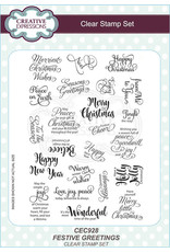 Creative Expressions Festive Greetings - Clear Stamp Set