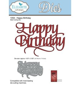 Elizabeth Craft Designs Happy Birthday - Die