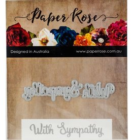 PaperRose With Sympathy Small - Die