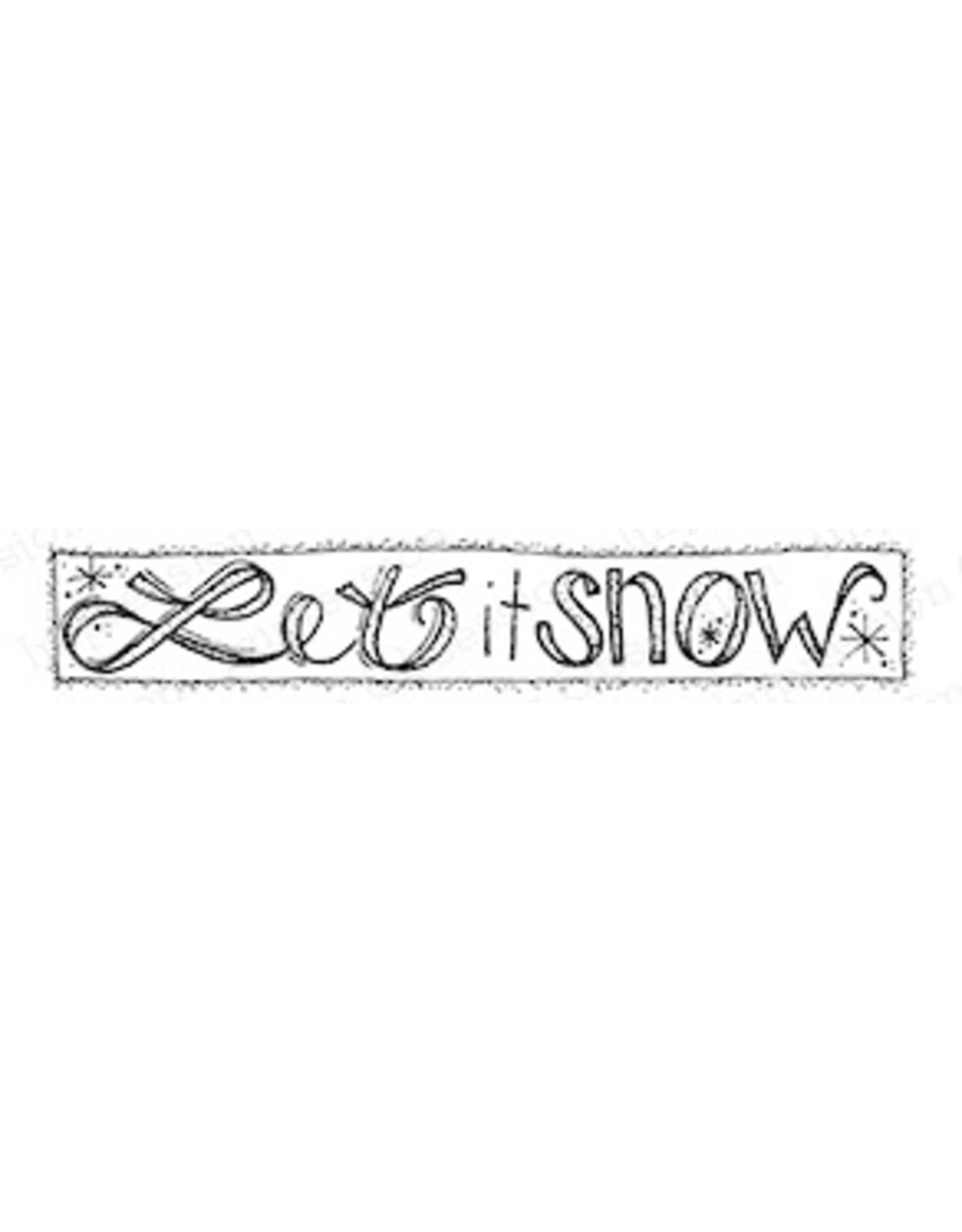 Impression Obsession Let it Snow - Cling Stamp