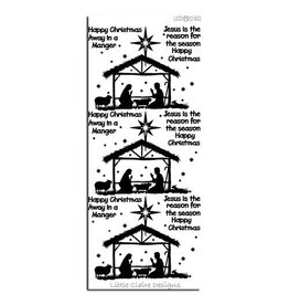 Manger Scene Sticker - Black