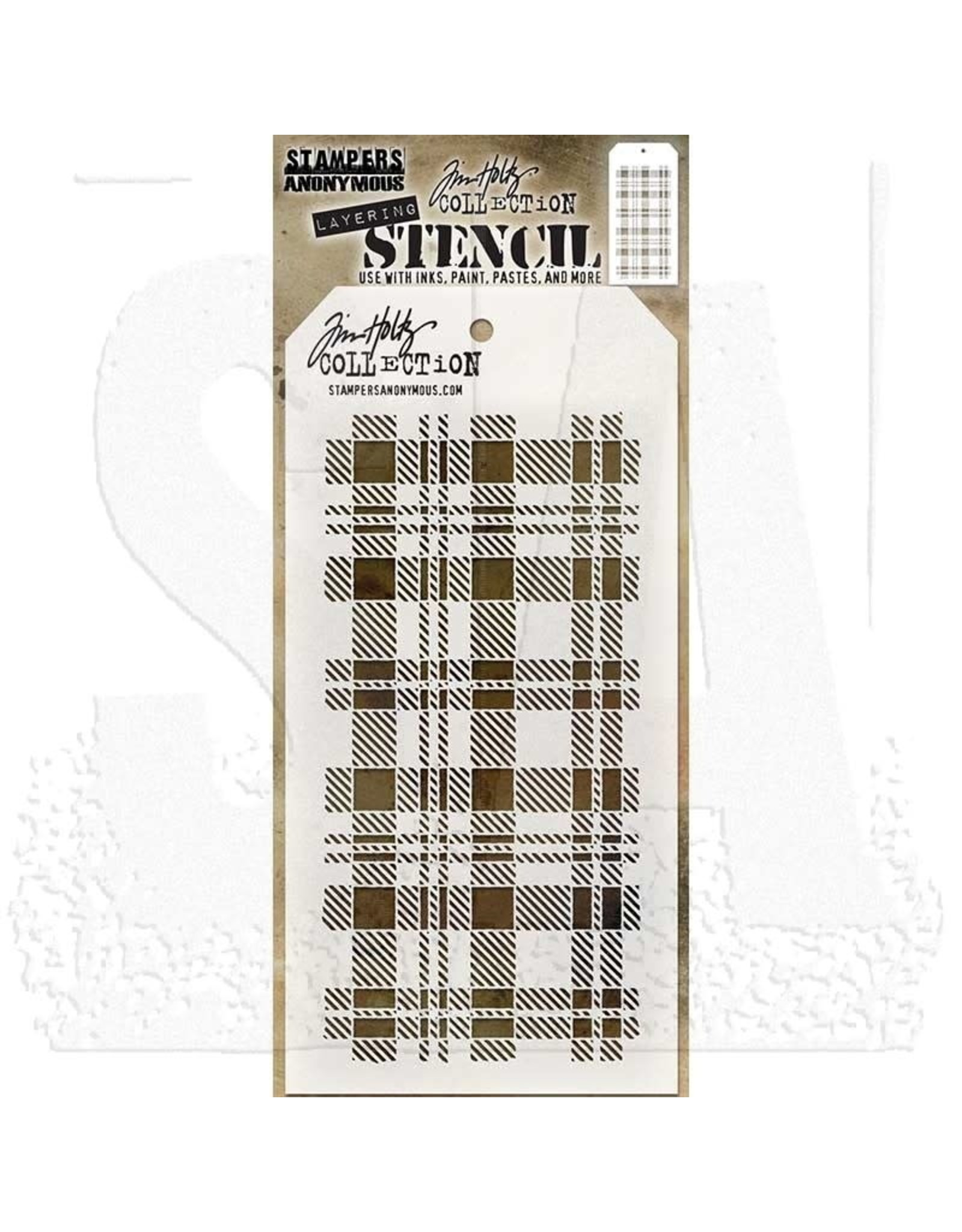 Stampers Anonymous Plaid - Layering Stencil