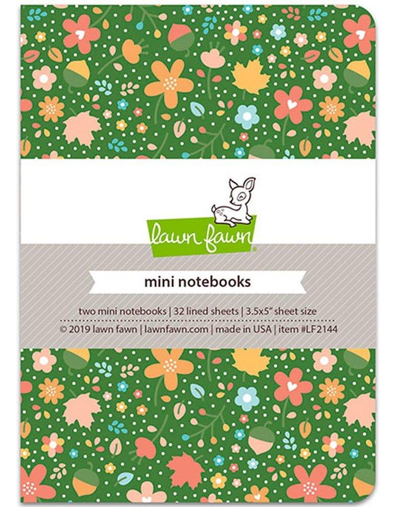 """Lawn Fawn Fall Fling - Mini Notebook 3.5""""X5"""" 2/Pkg"""