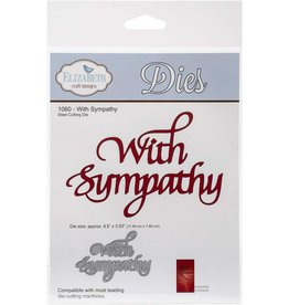 Elizabeth Craft Designs With Sympathy Script - Die