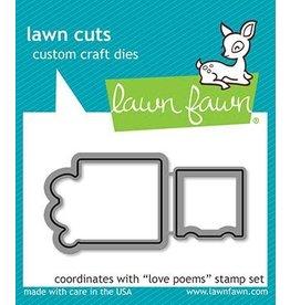 Lawn Fawn Love Poems - Die Set