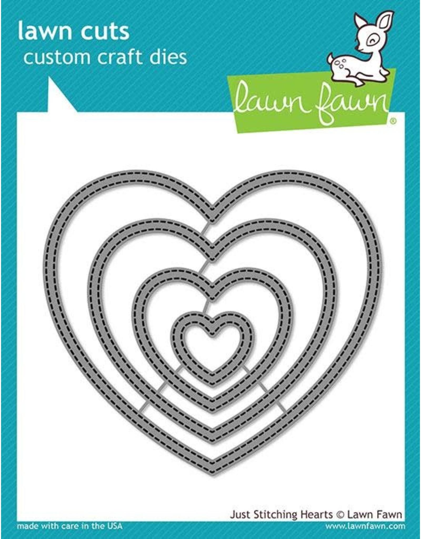 Lawn Fawn Just Stitching Hearts - Dies