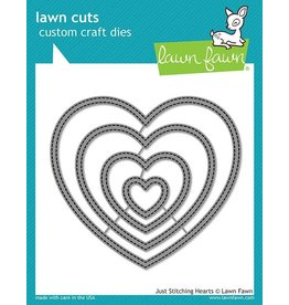 Lawn Fawn Just Stitching Hearts - Dies