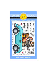 Sunny Studio Cruising Critters - Clear Stamp Set