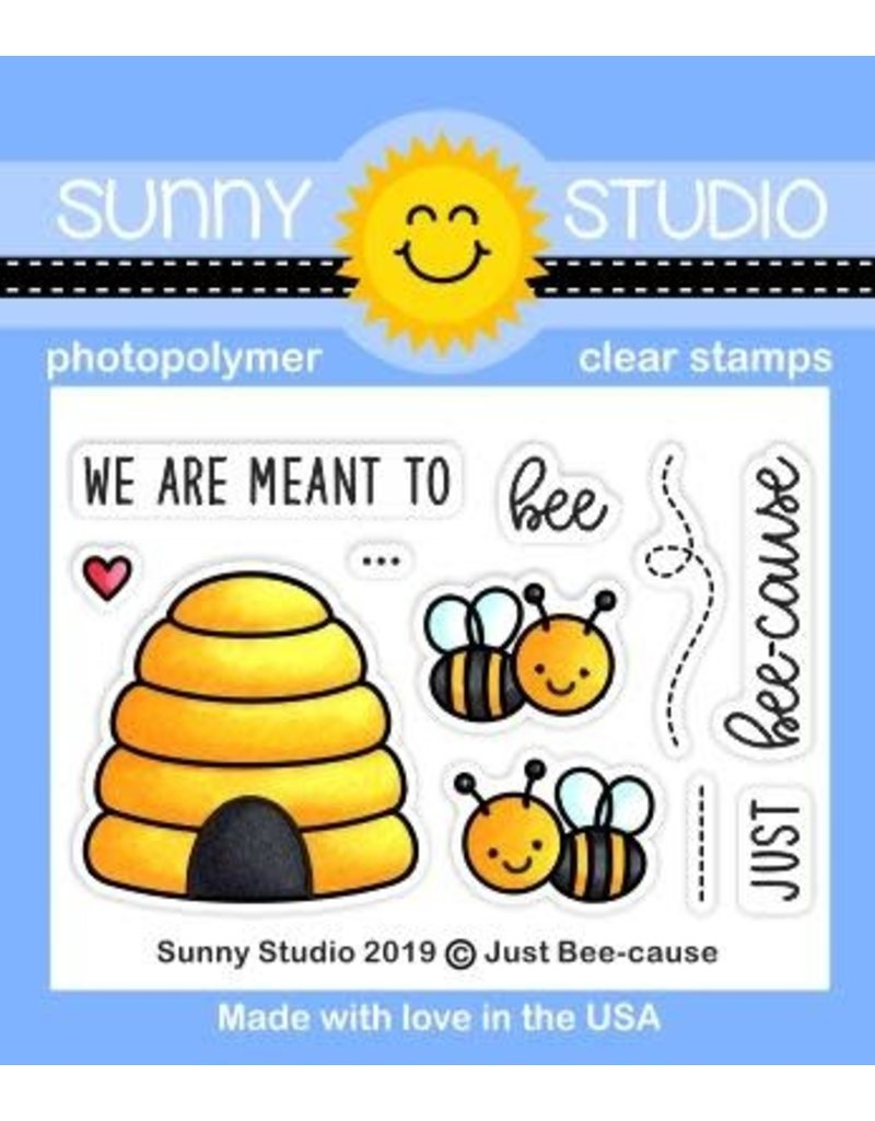 Sunny Studio Just Bee-cause Mini - Clear Stamp Set