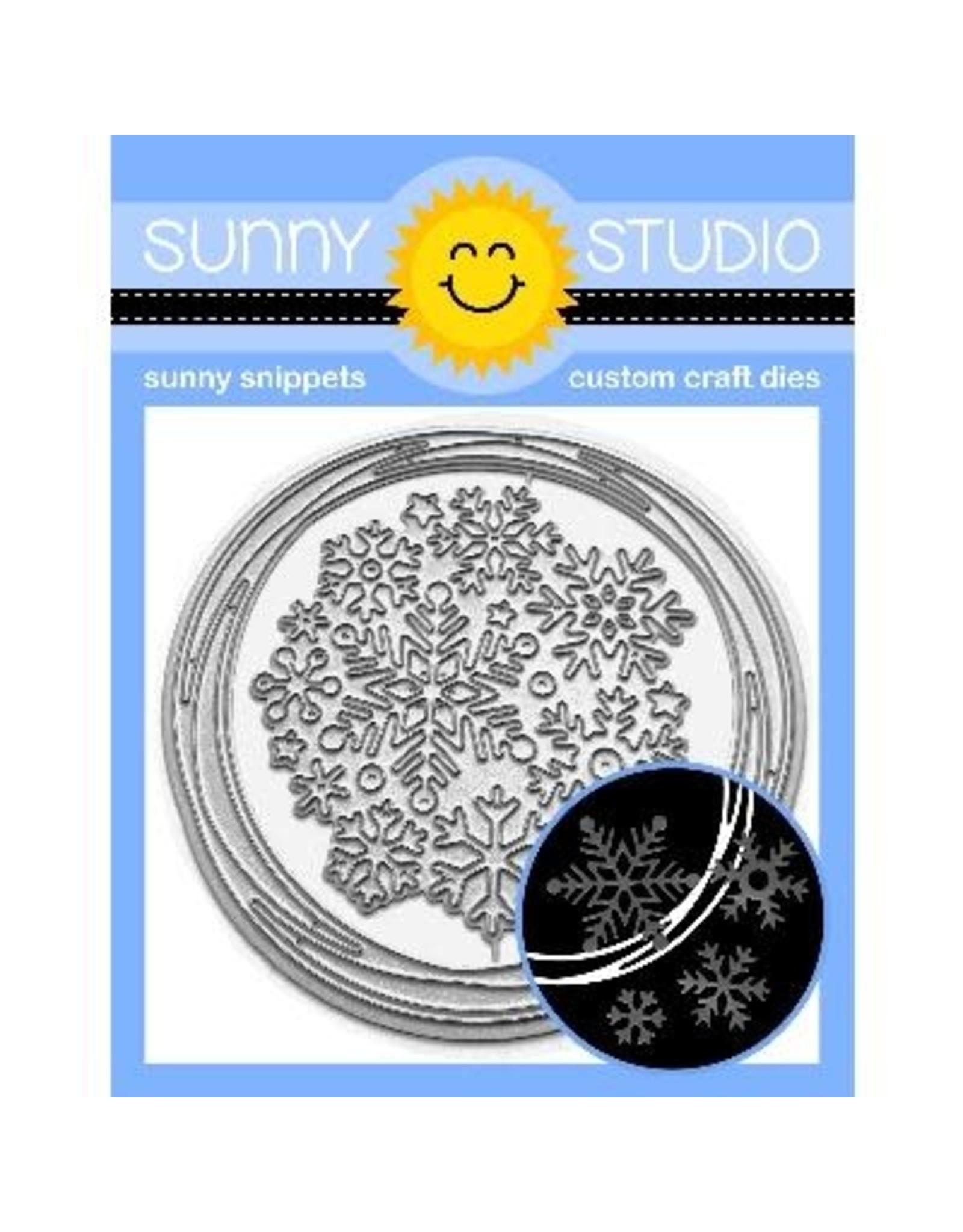 Sunny Studio Snowflake Circle Frame - Die