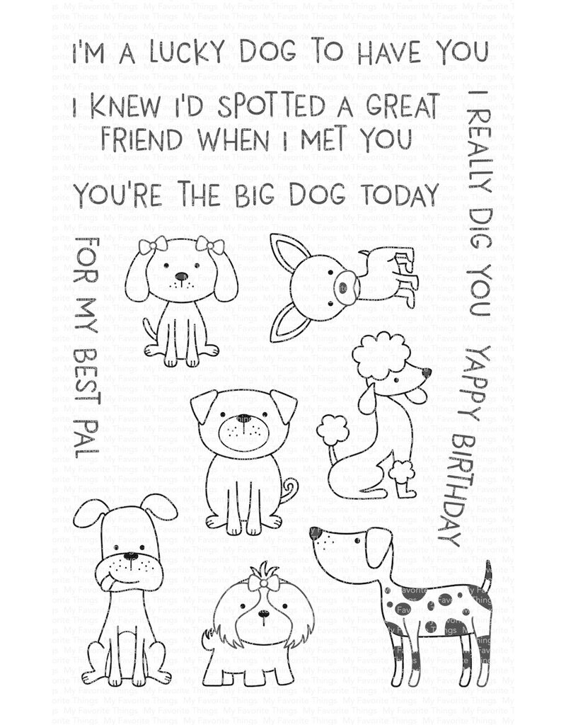 My Favorite Things Canine Companions - Clear Stamp Set