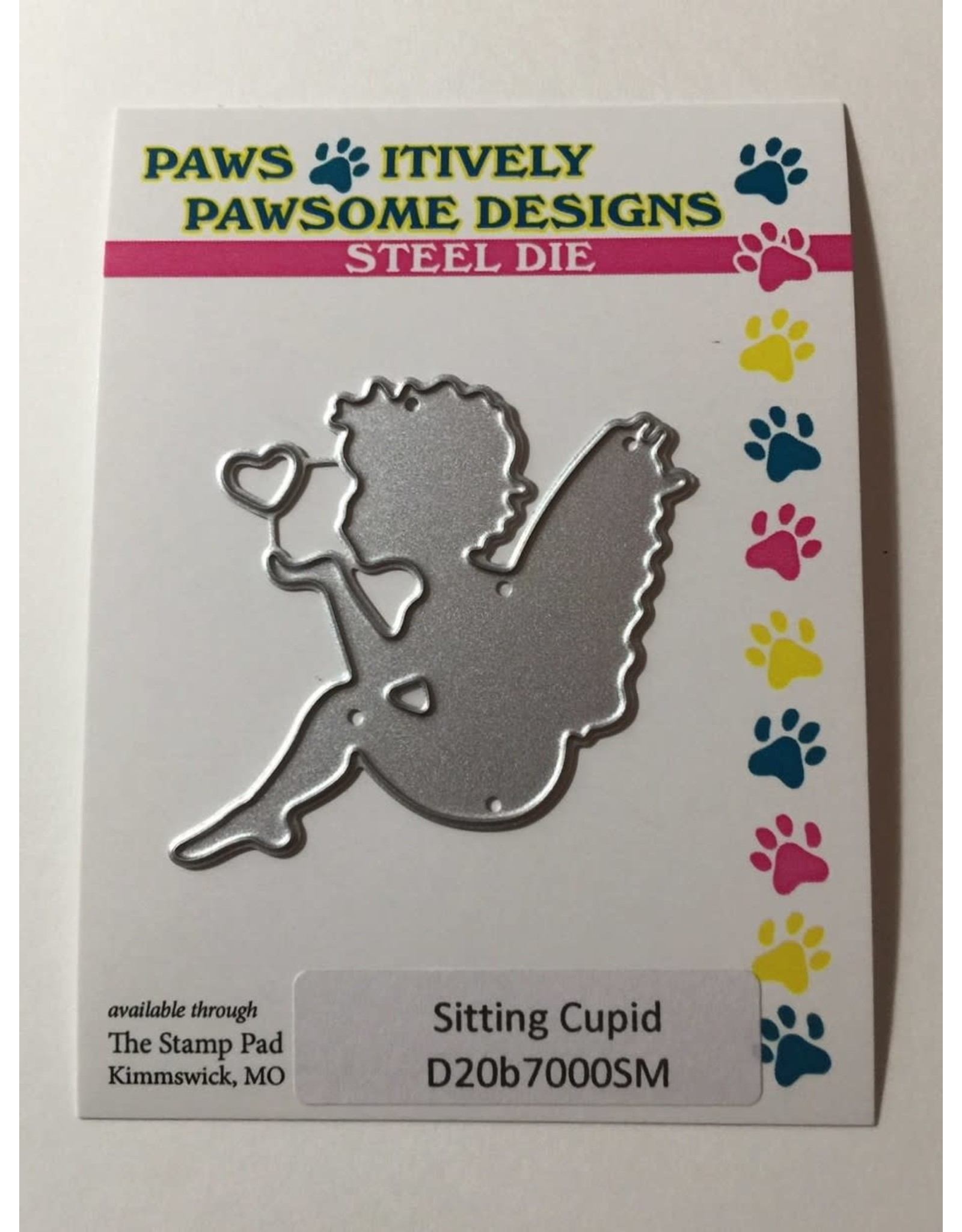 Paws-Itively Pawsome Designs Sitting Cupid Die