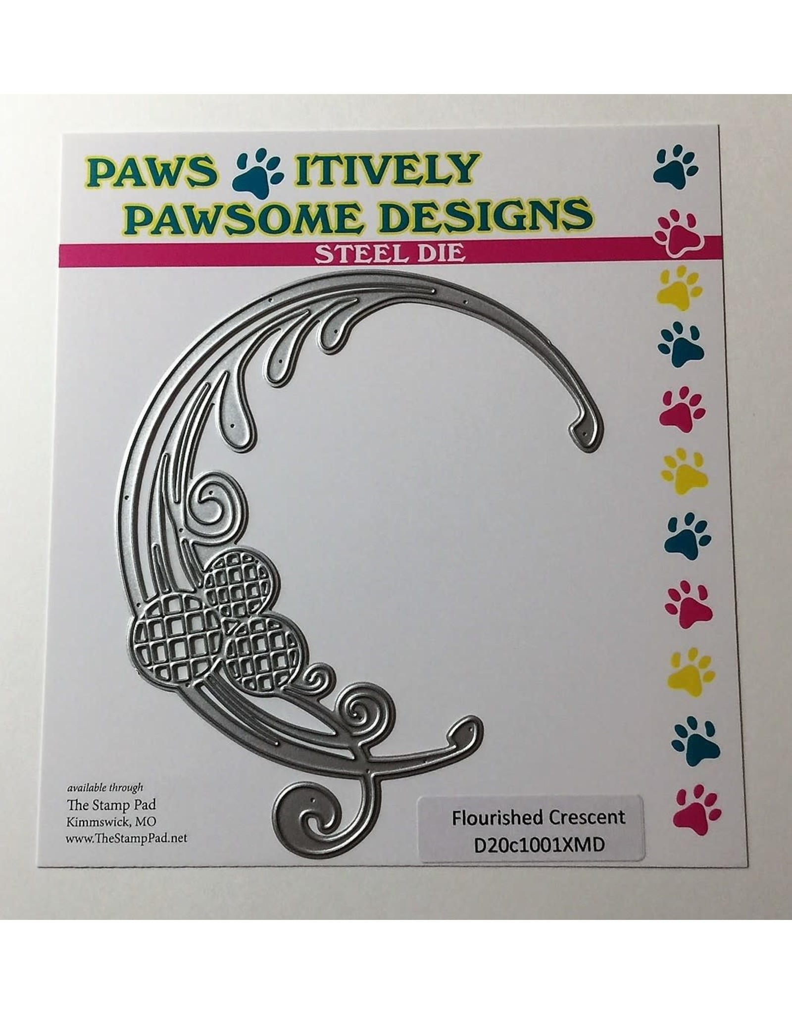 Paws-Itively Pawsome Designs Flourished Crescent Die