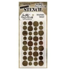 Stampers Anonymous Splotches - Layering Stencil