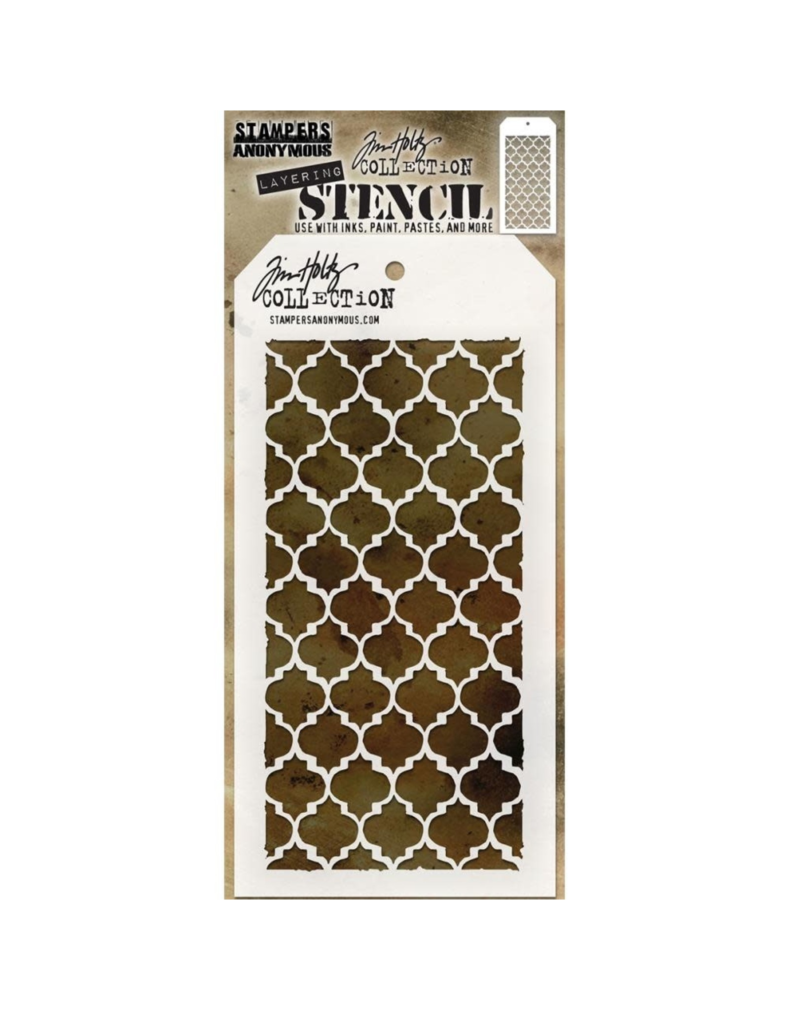 Stampers Anonymous Trellis - Layering Stencil