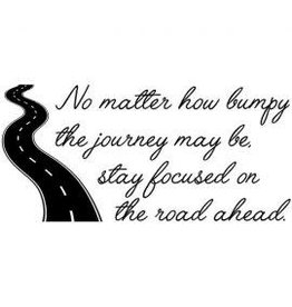 Verses Rubber Stamps Co. Road Ahead - Cling Stamp