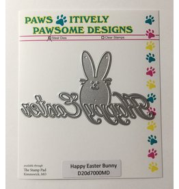 Paws-Itively Pawsome Designs Happy Easter Bunny