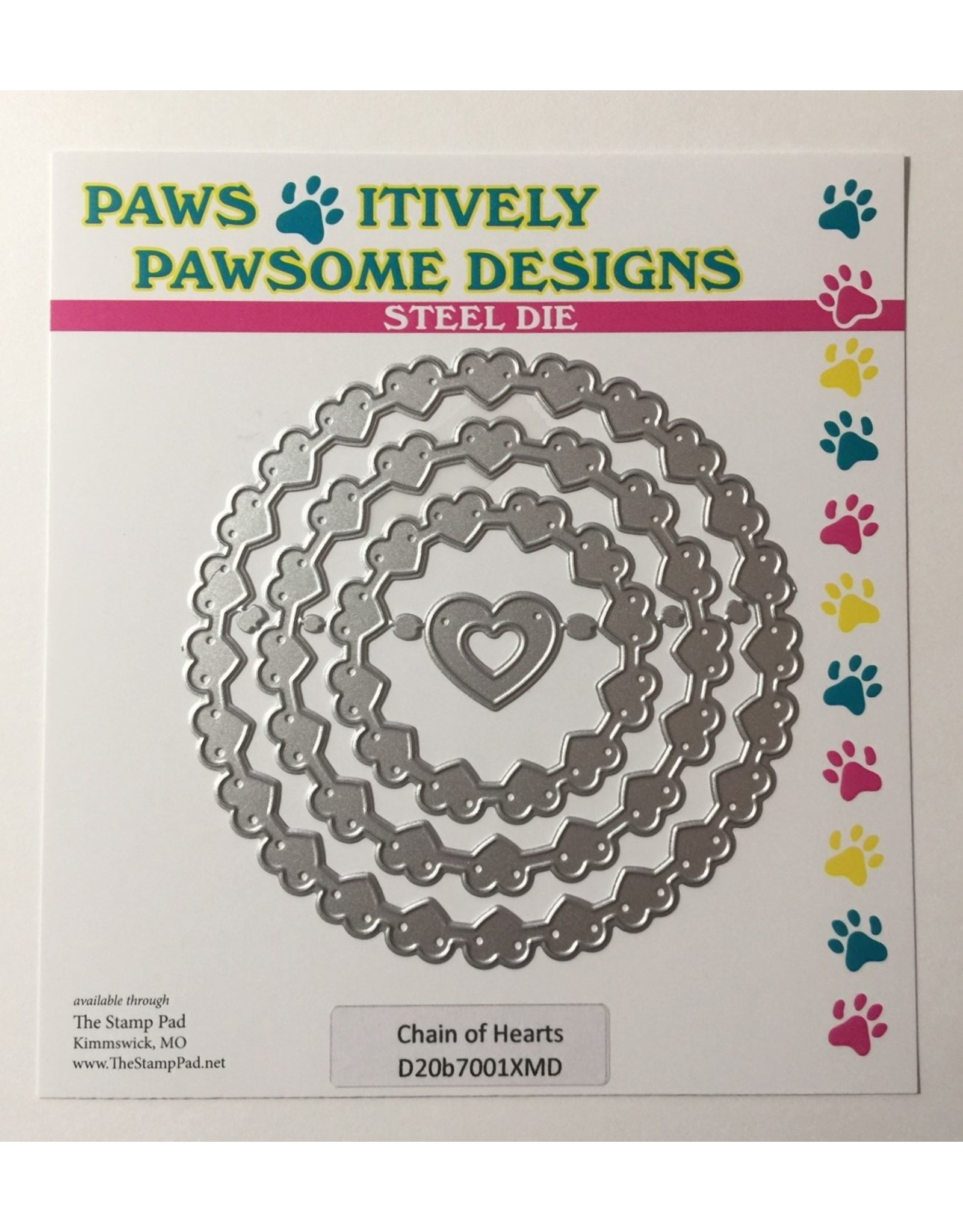 Paws-Itively Pawsome Designs Chain of Hearts - Die