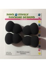 Paws-Itively Pawsome Designs Black Blending Sponges (4 pk)