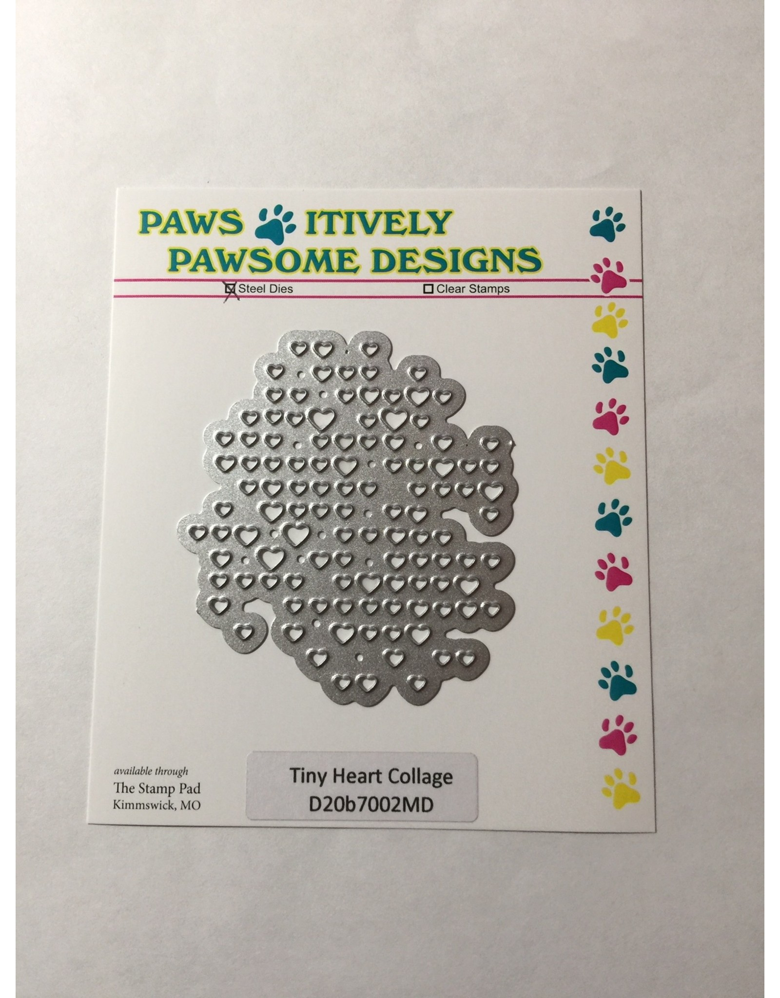 Paws-Itively Pawsome Designs Tiny Heart Collage - Die