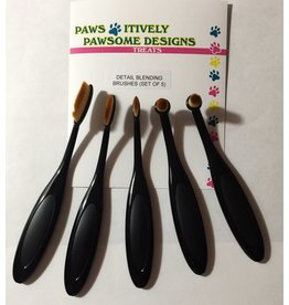 Paws-Itively Pawsome Designs Detail Blending Brushes (Set of 5)