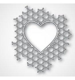 Memory Box Honeycomb Heart