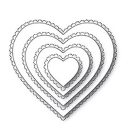 Memory Box Scallop Pinpoint Loving Heart Cut Out