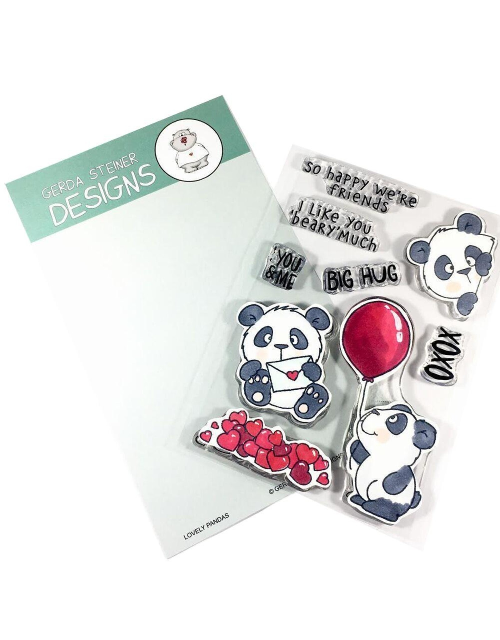 Gerda Steiner Designs Lovely Pandas - Die Set