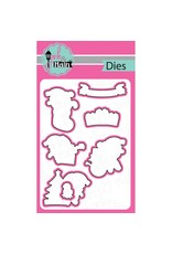 Pink and Main Santa Paws - Clear Stamp Set