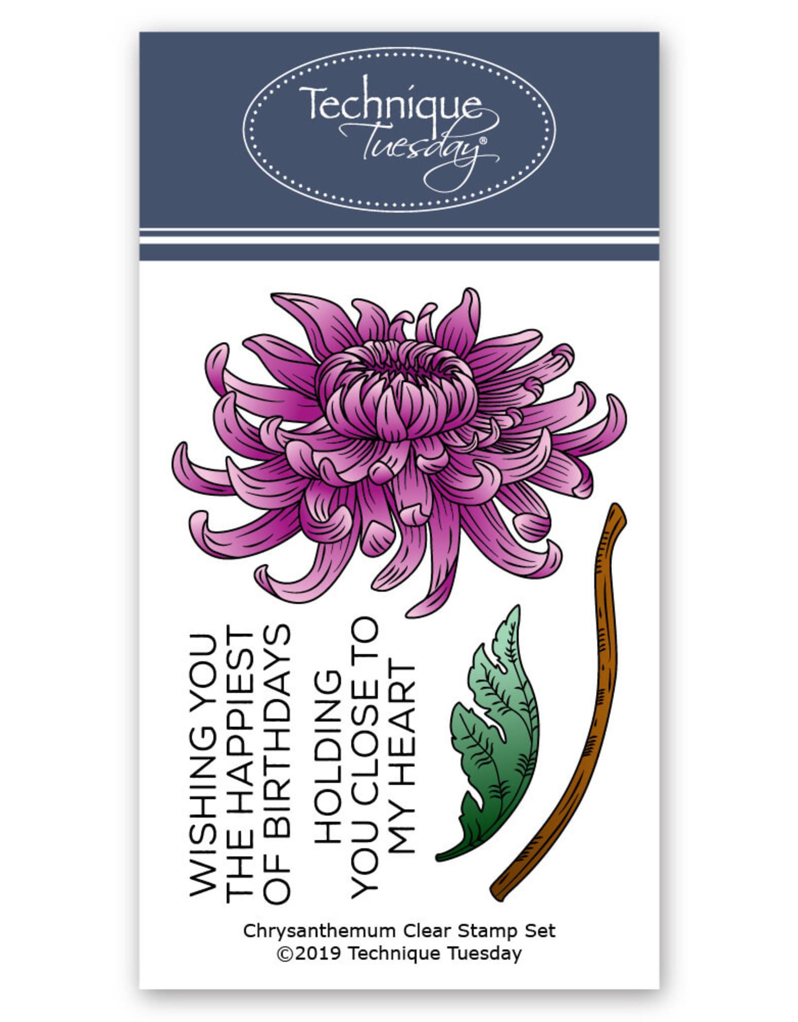Technique Tuesday Chrysanthemum (Greenhouse Society) -  Die Set