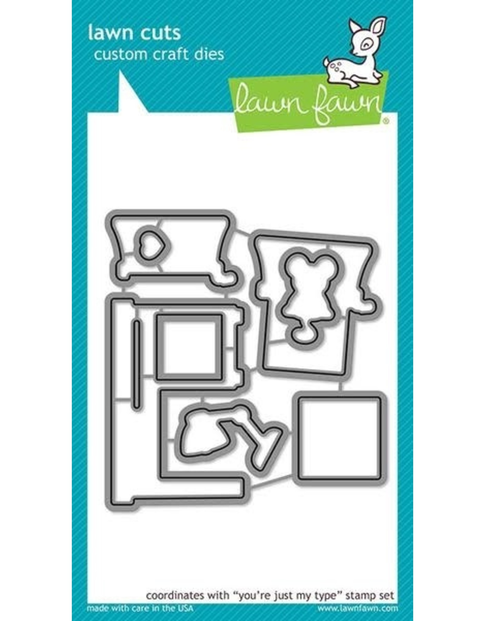 Lawn Fawn You're Just My Type - Clear Stamp Set