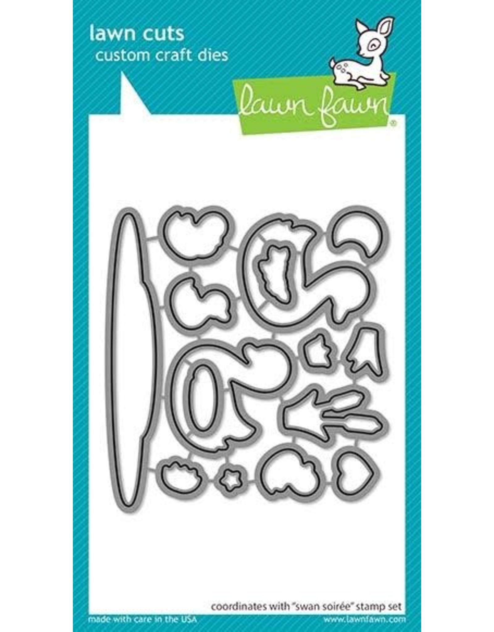 Lawn Fawn Swan Soiree - Clear Stamp Set