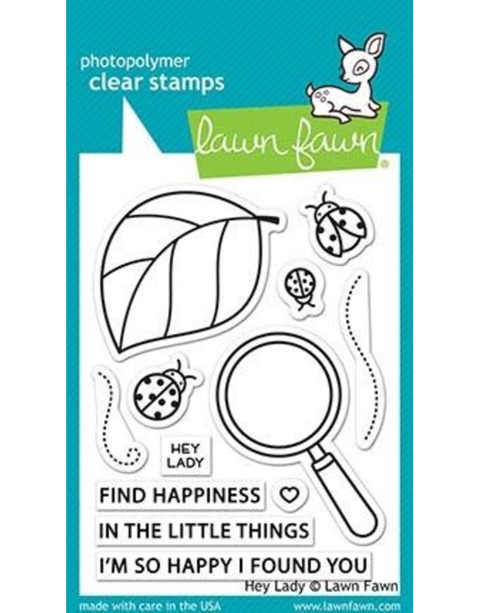 Lawn Fawn Hey Lady - Clear Stamp Set