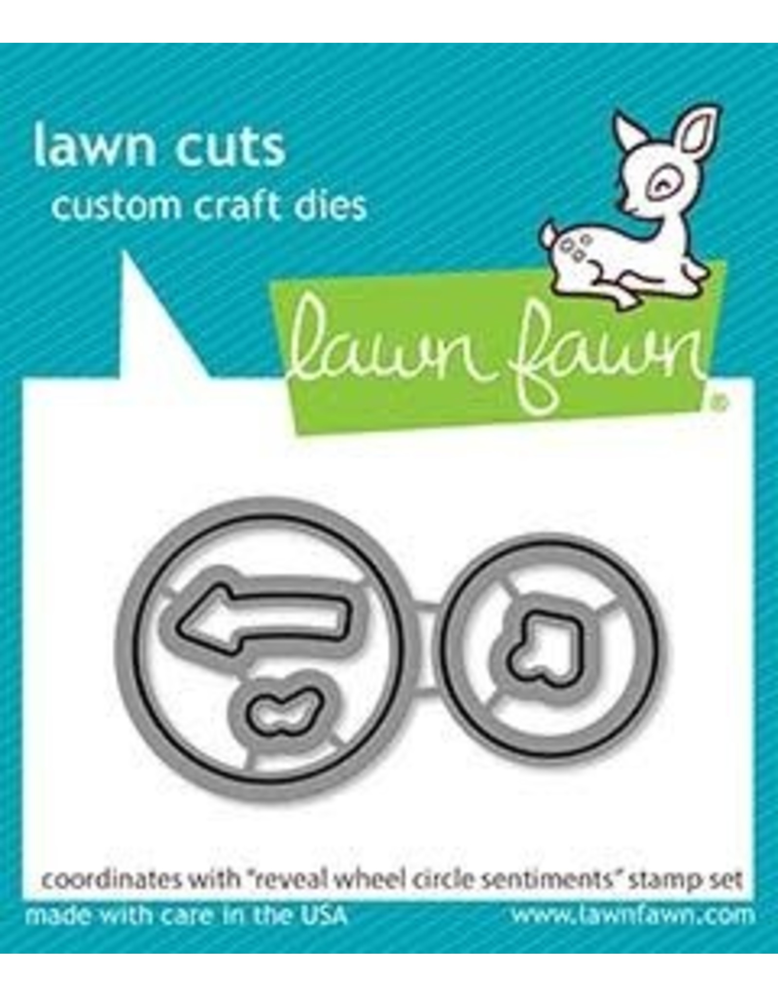 Lawn Fawn Circle Sentiments Reveal Wheel - Clear Stamp Set