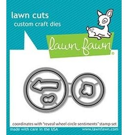 Lawn Fawn Circle Sentiments Reveal Wheel - Die Set