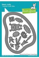 Lawn Fawn Stitched Pond Frame - Die Set