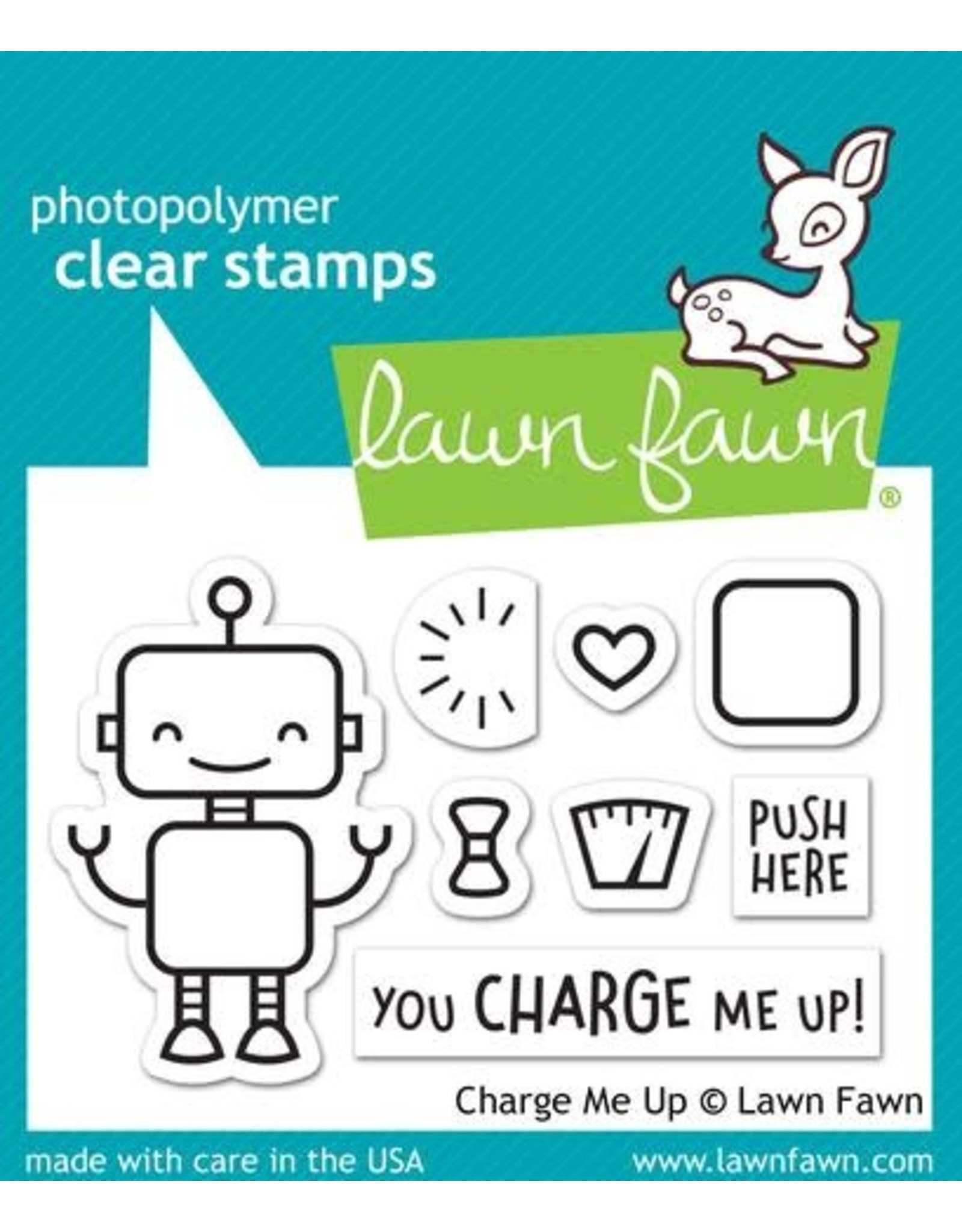 Lawn Fawn Charge Me Up - Clear Stamp Set