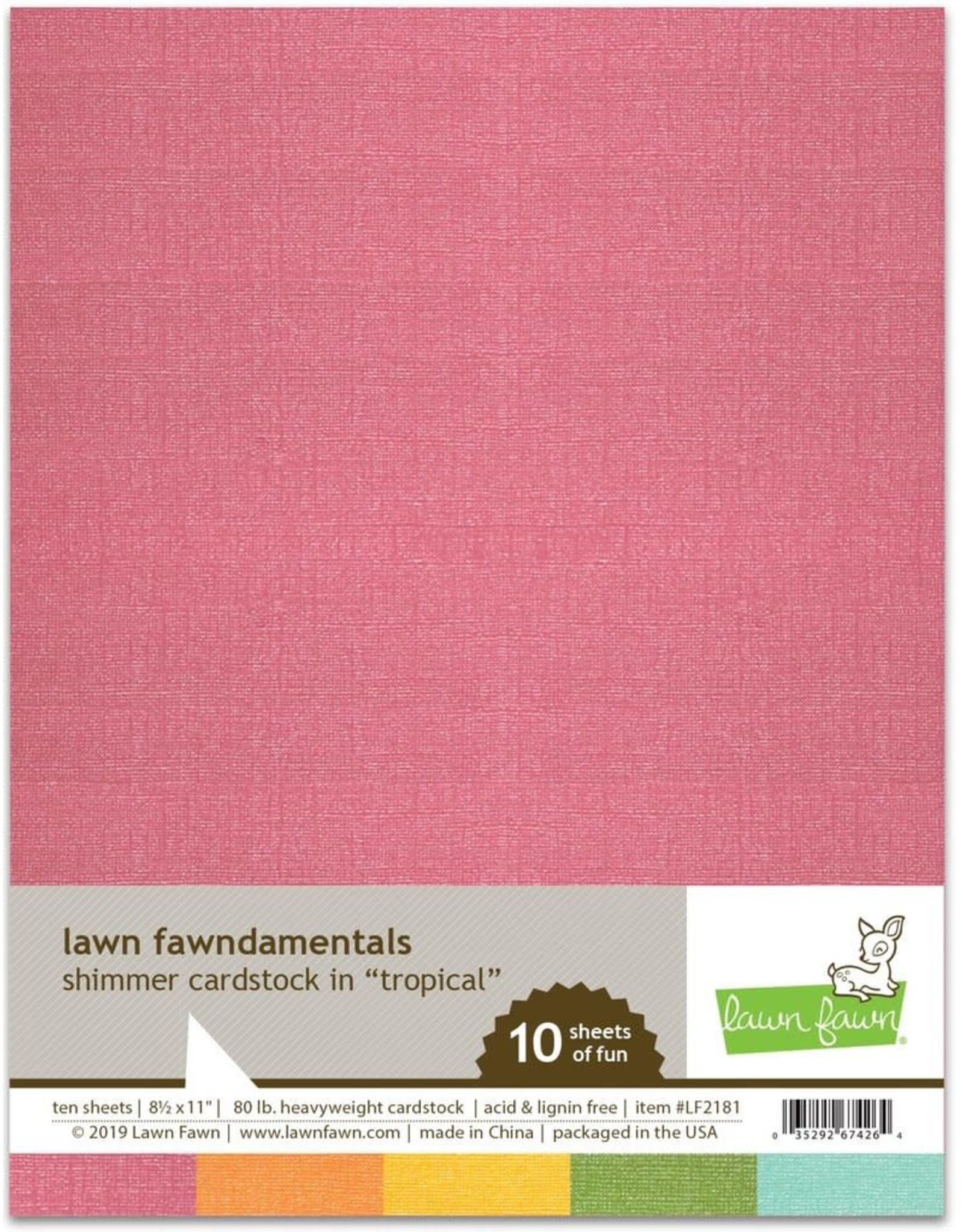 Lawn Fawn Tropical - Shimmer Cardstock