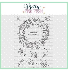 Pretty Pink Posh Spring Wreath - Clear Stamp Set