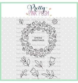 Pretty Pink Posh Spring Wreath Clear Stamp Set