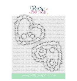 Pretty Pink Posh Lg. Floral Hearts - Die Set