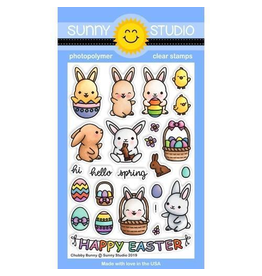 Sunny Studio Chubby Bunny Clear Stamp Set