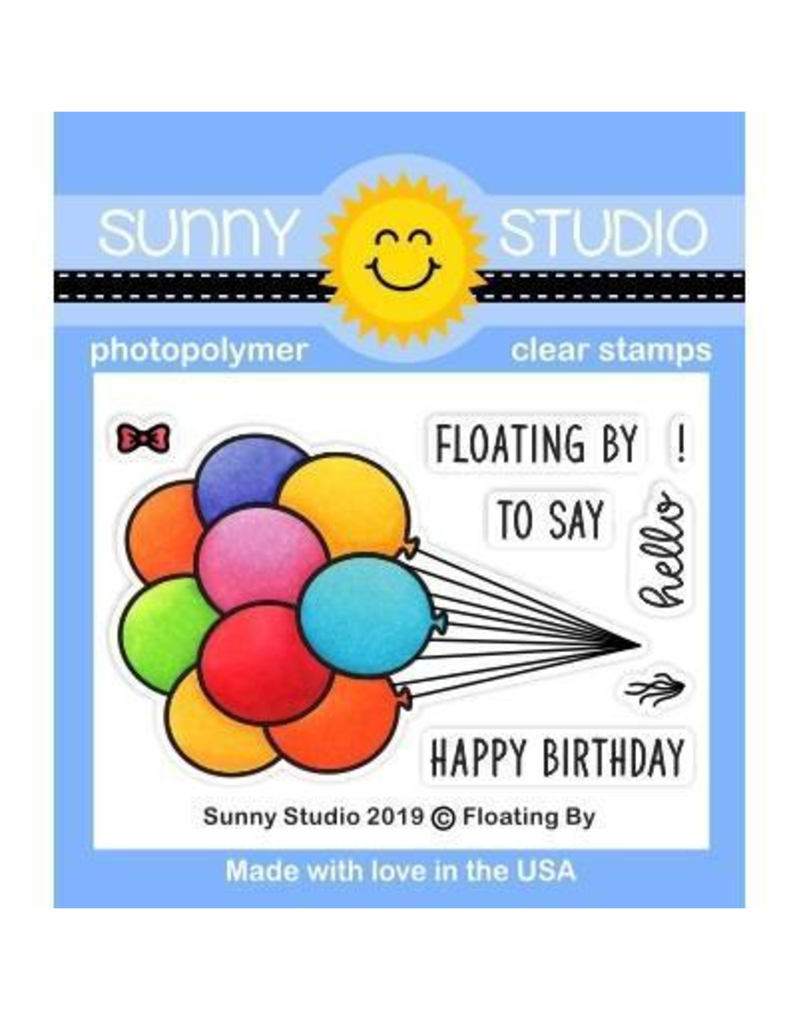 Sunny Studio Floating By - Clear Stamp Set