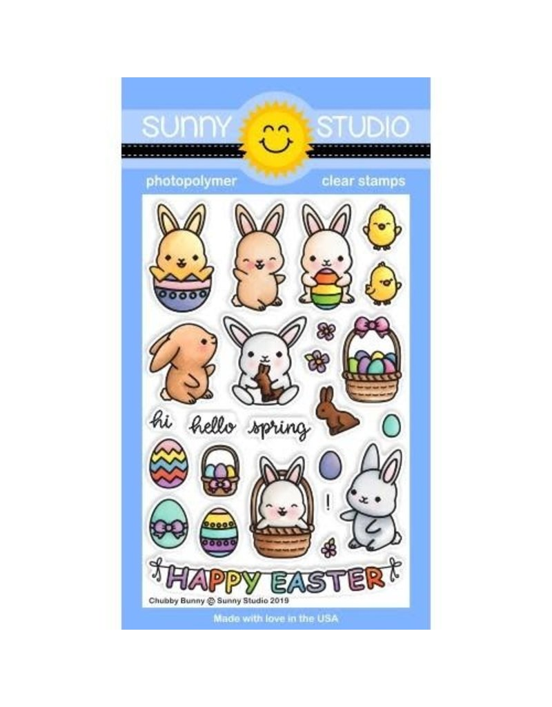 Sunny Studio Chubby Bunny Die Set