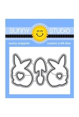 Sunny Studio Spring Greetings Clear Stamp Set