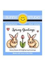 Sunny Studio Spring Greetings Die Set