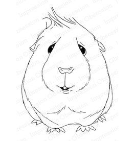 Impression Obsession Curious Guinea Pig - Cling Stamp
