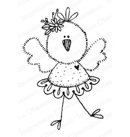 Impression Obsession Chickie Tutu - Cling Stamp